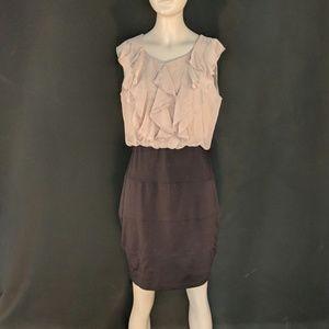 Enfocus Studio - Tan and Black Dress